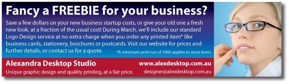 Alexandra desktop studio: Unique graphic design and quality printing, at a fair price